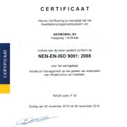 Certificaat ISO 90012008 Aboma_001
